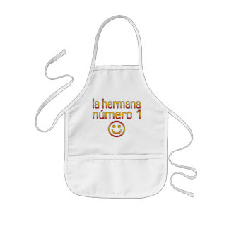 La Hermana Número 1 - Number 1 Sister in Spanish Kids' Apron