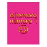 La Hermana Número 1 - Number 1 Sister in Spanish Post Cards