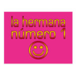 La Hermana Número 1 - Number 1 Sister in Spanish Postcard