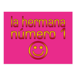 La Hermana Número 1 - Number 1 Sister in Spanish Postcard