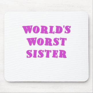 La hermana peor de los mundos alfombrillas de ratones