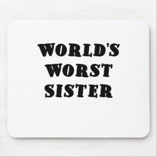 La hermana peor de los mundos alfombrillas de ratón