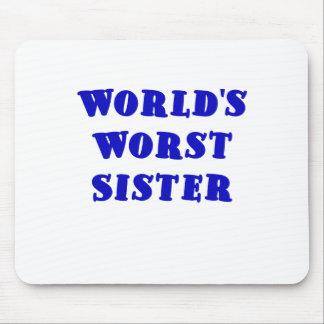 La hermana peor de los mundos alfombrillas de raton
