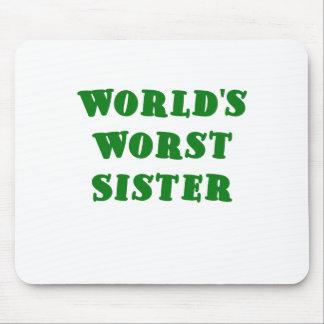 La hermana peor de los mundos tapetes de ratón
