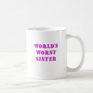 La hermana peor de los mundos taza básica blanca