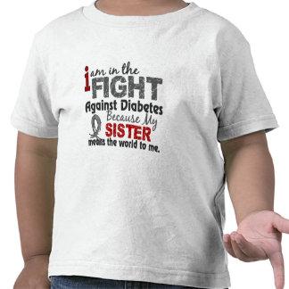 La hermana significa el mundo a mí diabetes camisetas
