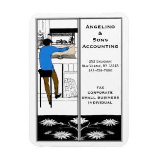 La herramienta promocional del contable imanes rectangulares
