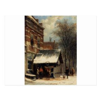 La herrería de Culemborg en el invierno de Postal