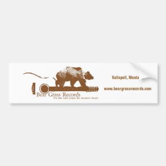 La hierba de oso registra a la pegatina para el pa pegatina para auto