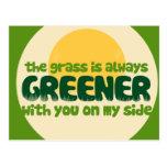 La hierba es más verde postal