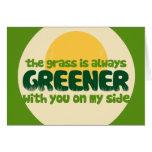 La hierba es más verde tarjeta