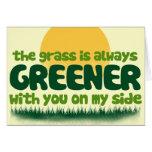 La hierba es siempre más verde felicitación
