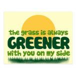 La hierba es siempre más verde postales
