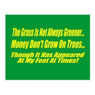 La hierba no es siempre más verde postal