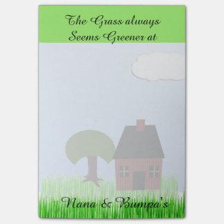 La hierba parece más verde en… notas post-it
