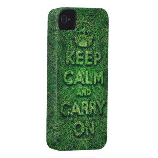 La hierba verde guarda calma y continúa iPhone 4 funda