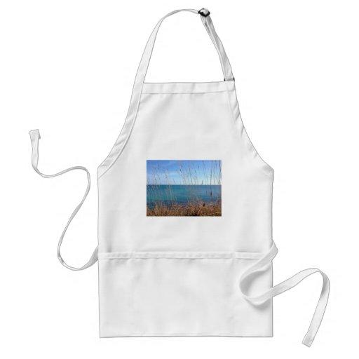 La hierba y el mar hermosos delantales