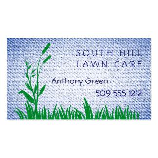 La hierba y la mala hierba texturizaron el fondo d tarjetas de visita