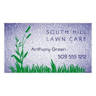 La hierba y la mala hierba texturizaron el fondo d tarjeta de visita