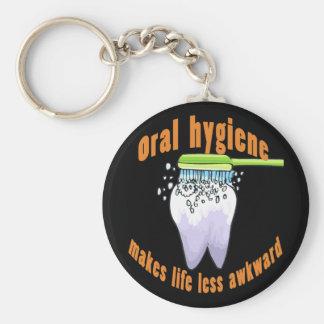 La higiene oral hace vida menos torpe llavero redondo tipo pin