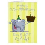 La hija come más 38.a tarjeta de cumpleaños de la