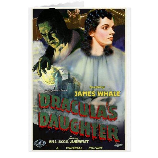 La hija de Drácula Tarjeta De Felicitación
