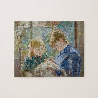 La hija del artista, Julia, con su niñera Puzzle