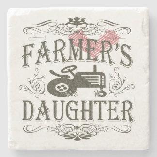 La hija del granjero posavasos de piedra