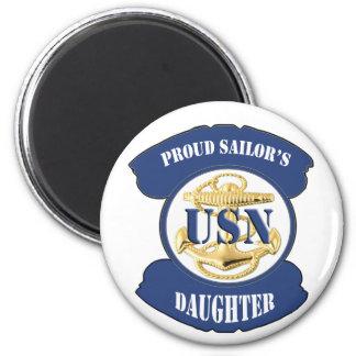 La hija del marinero orgulloso imán redondo 5 cm