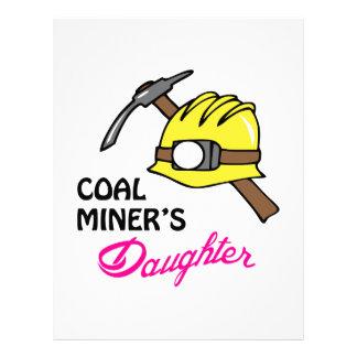La hija del minero de carbón plantilla de membrete