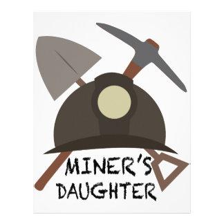 La hija del minero plantilla de membrete