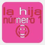 La Hija Número 1 - hija del número 1 en Peruvian Calcomania Cuadradas Personalizada