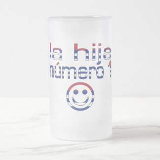 La Hija Número 1 - Number 1 Daughter in Cuban Frosted Glass Beer Mug