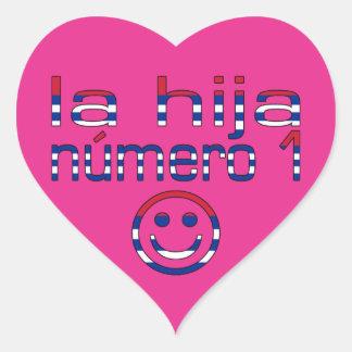 La Hija Número 1 - Number 1 Daughter in Cuban Heart Sticker