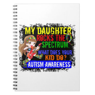La hija oscila el autismo del espectro spiral notebooks