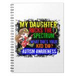 La hija oscila el autismo del espectro libreta espiral