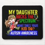 La hija oscila el autismo del espectro alfombrillas de raton