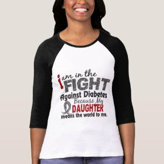 La hija significa el mundo a mí diabetes camisetas