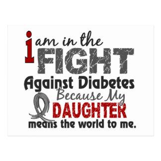 La hija significa el mundo a mí diabetes postal