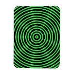 La hipnosis circunda verde imán