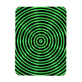 La hipnosis circunda verde iman de vinilo