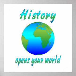 La historia abre los mundos poster