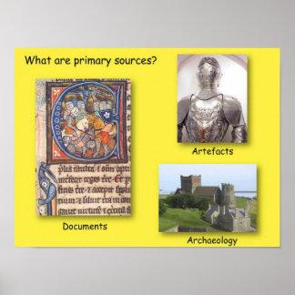 ¿La historia, cuál es fuentes primarias? Póster