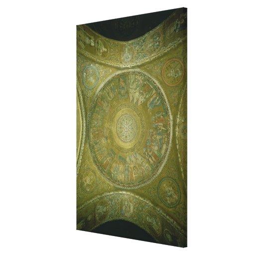 La historia de José, mosaico de la 3ro cúpula aden Impresión En Lienzo Estirada