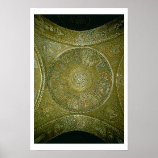 La historia de José, mosaico de la 3ro cúpula aden Poster