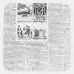 La historia de la batalla de Worcester Pegatina Cuadrada
