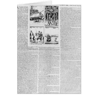 La historia de la batalla de Worcester Tarjeton