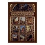 La historia de la humanidad, 9 placas de Moreau Gu Felicitación