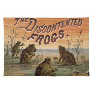 La historia de la rana anima para arriba mantel