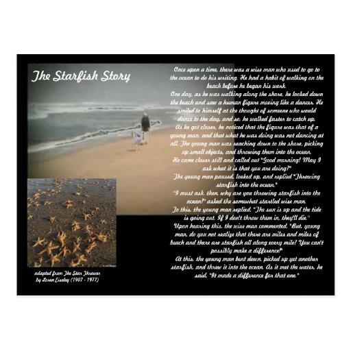 La historia de las estrellas de mar tarjeta postal